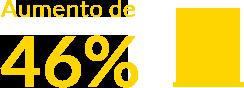 Aumento de 46%