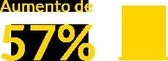 Aumento de 57%